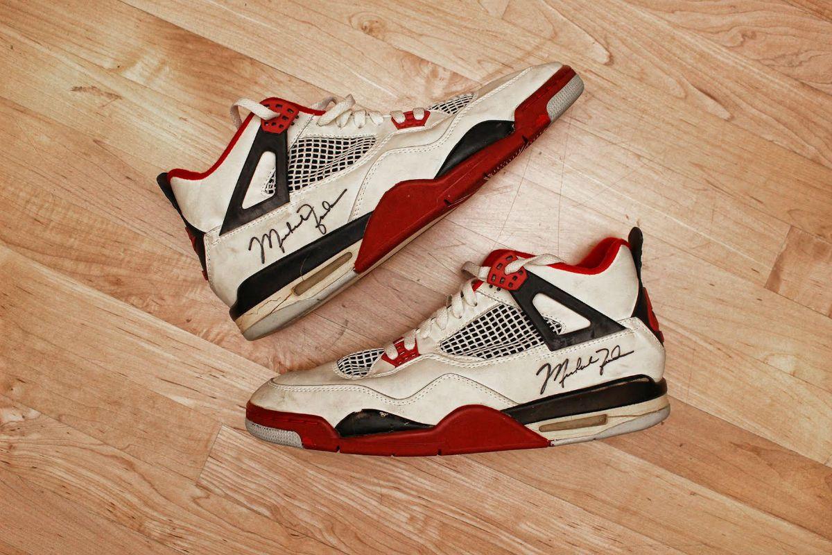 Michael Jordan Game Worn Air Jordan 4 Fire Red From 1989 Pair Air Jordans Jordan 4 Red Fire