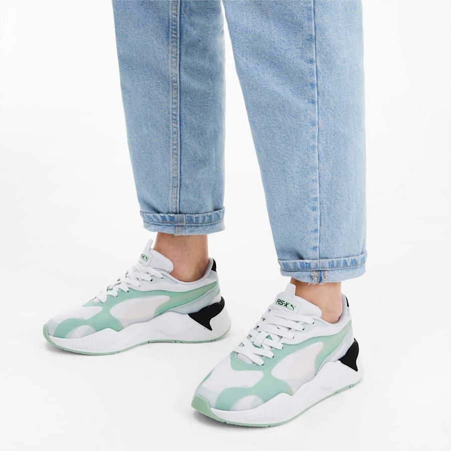 Photo of PUMA Rs-X3 Plas_Tech Women's Trainers in Mist Green size 4
