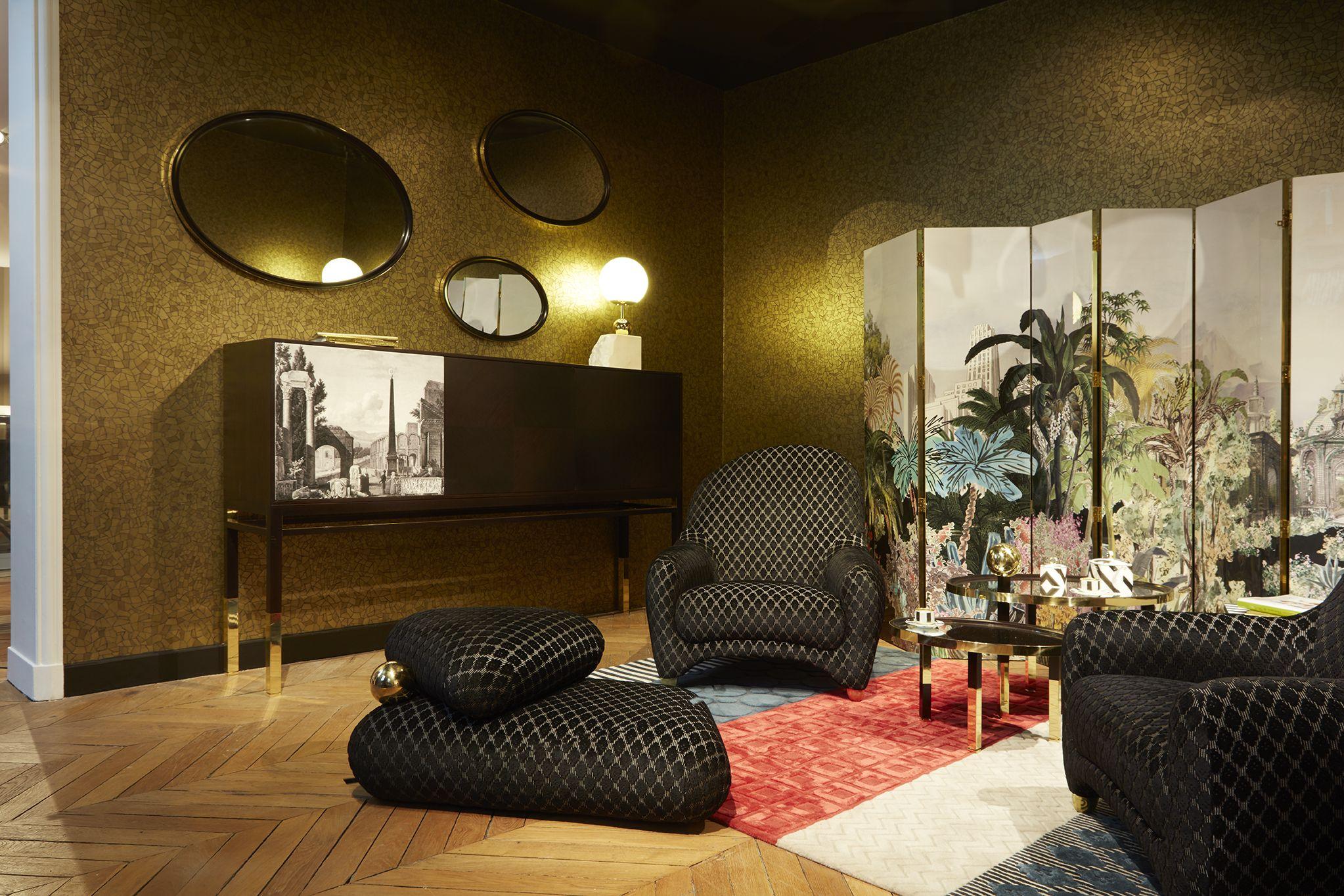 Christian Lacroix Maison Delivers Its First Collection Exclusively For Roche Bobois Simply Named ʺmaison Lac Petit Salon Architecte Interieur Mobilier De Luxe