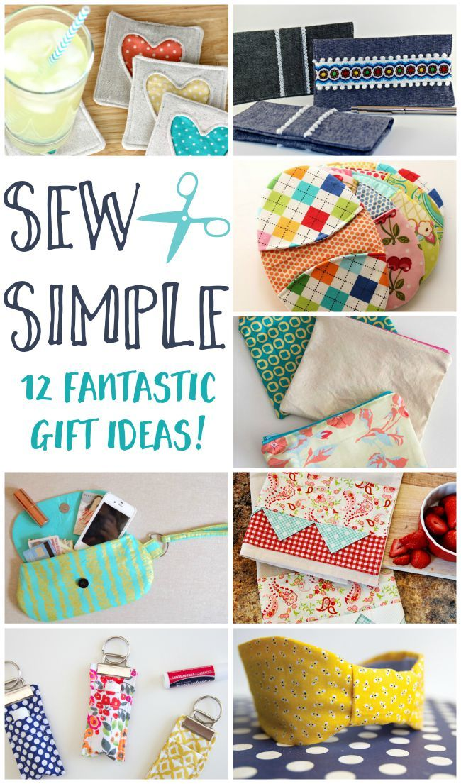If you like to make your own gifts then definitely check out these super cute ideas. Loads of great diy sewing gifts!  sc 1 st  Pinterest & Sew Simple: 12 Fantastic DIY Sewing Gift Ideas | CrAfTy 2 ThE CoRe ...