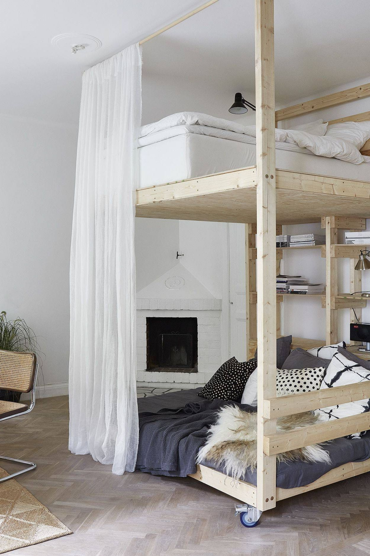 A Bedroom With Adult Bunk Bed Bunk bed decor, Studio