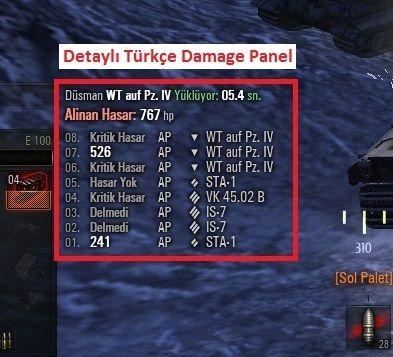 Wot damage paneller, damage panels, 0.9.1 damage panel, wot mods