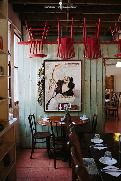 Chairs On Ceiling To Make A Quirky Affordable Wow Factor