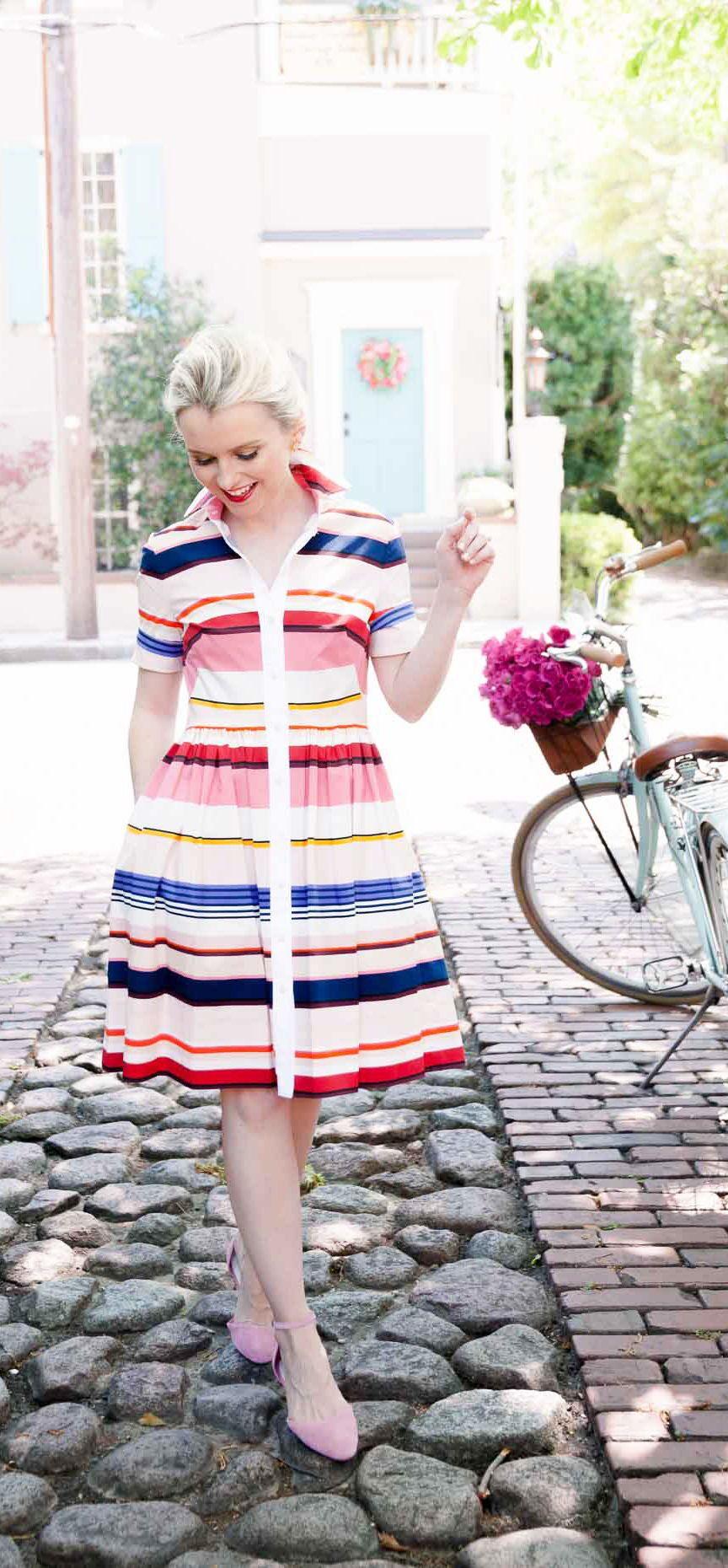 fc0e040c88f Kate Spade New York Stripe Shirtdress