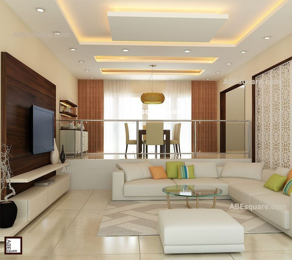 Rectangular Living Room Ceiling Design in 9  Deckengestaltung