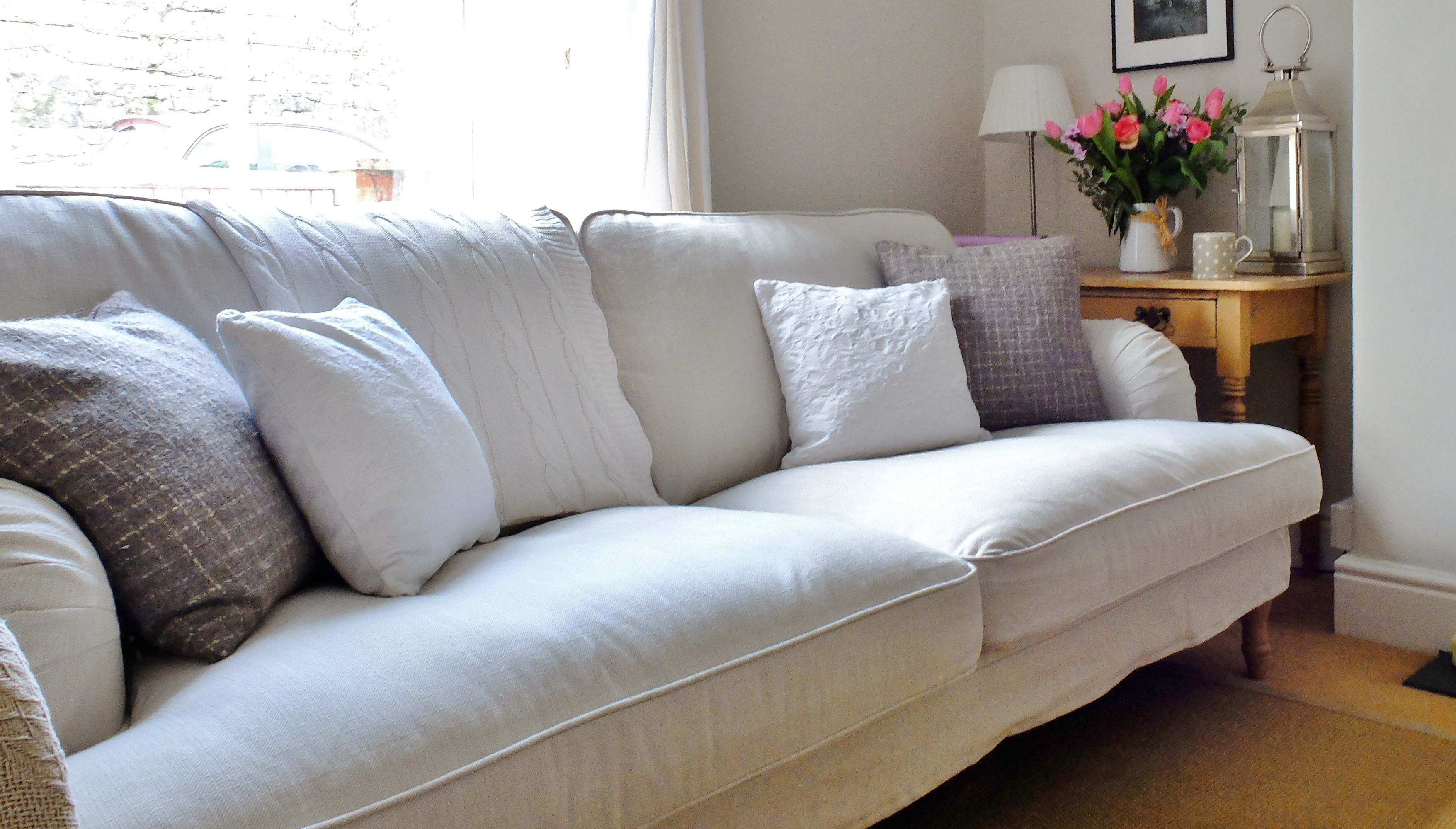 lovely ikea living room | Ikea Stocksund Sofa .Easy to assemble. Lovely fabric ...