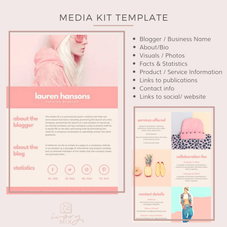 Media Kit Template How Bloggers Can Get Paid On Instagram Click Here To Find Out How You Don Social Media Marketing Content Media Kit Blog Marketing