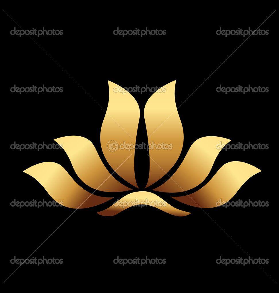 Vector of yoga gold lotus flower logo stock vector glopphy vector of yoga gold lotus flower logo stock vector glopphy izmirmasajfo