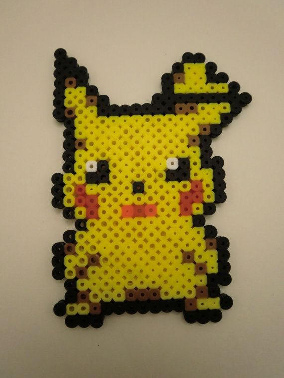 pikachu perler on etsy pixel perler