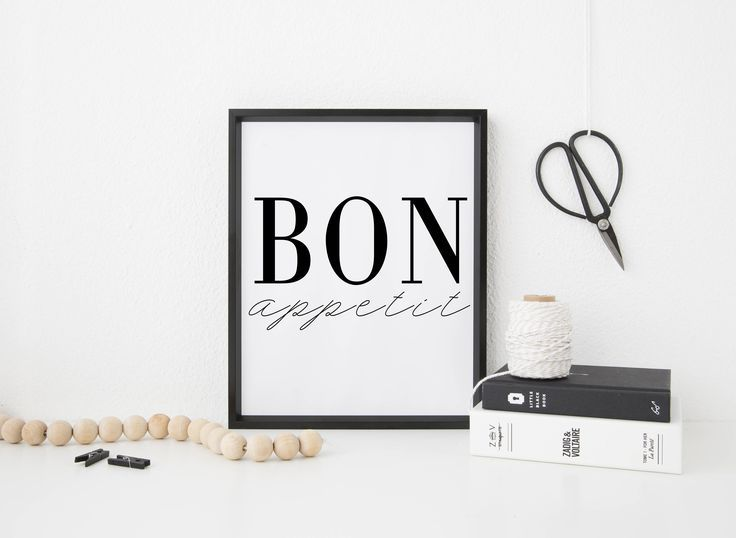 Bon Appetit Kitchen Decor Black And White Home Decor