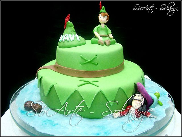 Fantastic Bolo Decorado Peter Pan Peter Pan Cakes Peter Pan Party Personalised Birthday Cards Paralily Jamesorg