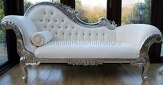 silver leaf medium chaise longue over the top, but irresistable ...