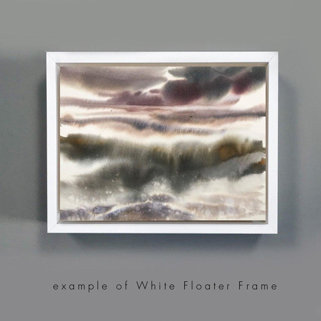 Add On White Floated Frame For 11x14in Art Floating Frame Art Canvas Frame