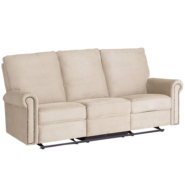 Remarkable Hardwood Alton Rolled Arm Reclining Sofa Ecru Furniture Theyellowbook Wood Chair Design Ideas Theyellowbookinfo