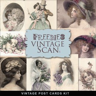 Far Far Hill: Freebies Vintage Post Cards Kit