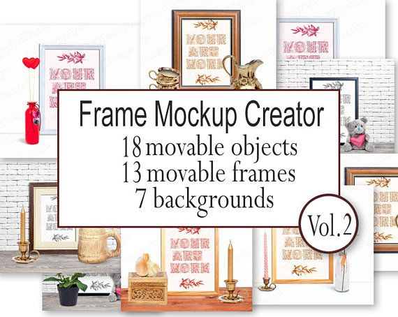 Moveable Mockup Scene Creator With Moveable Objects, Frame Mockup ...