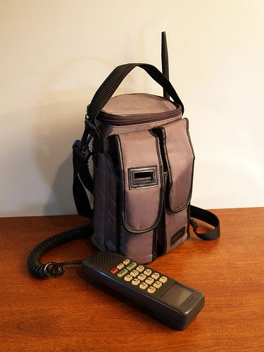 VINTAGE BAG PHONE // Early Cell Phone// Electronics // Car Phone ...
