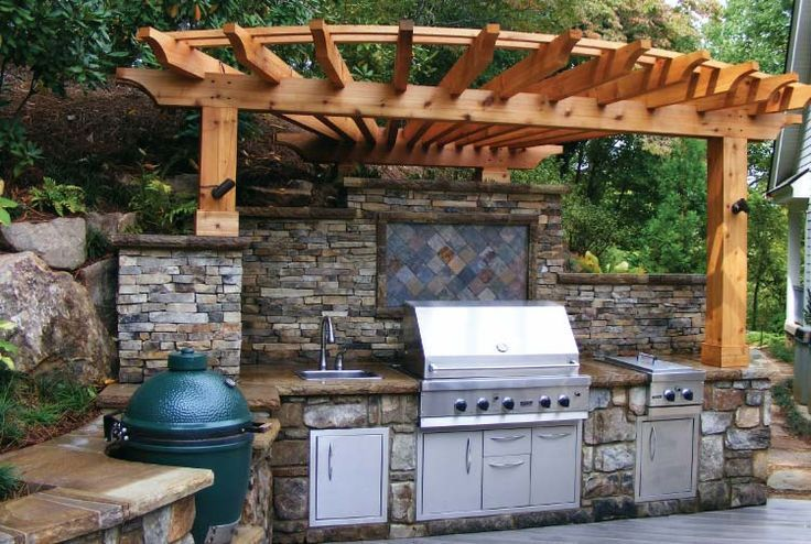 Custom Outdoor Kitchen Designs picture of custom outdoor kitchen bbq smokers nc big green egg