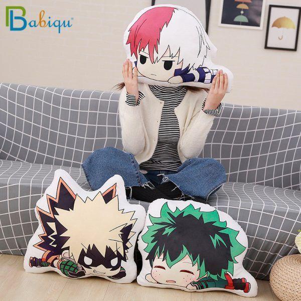 My Hero Academia Midoriya Izuku Todoroki Shouto Plush Toy Pillow Cushion Doll