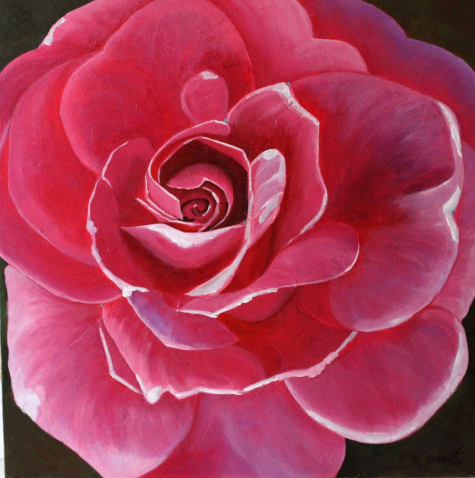 Acrylic painting for beginners back with the pickering for Step by step acrylic painting flowers for beginners