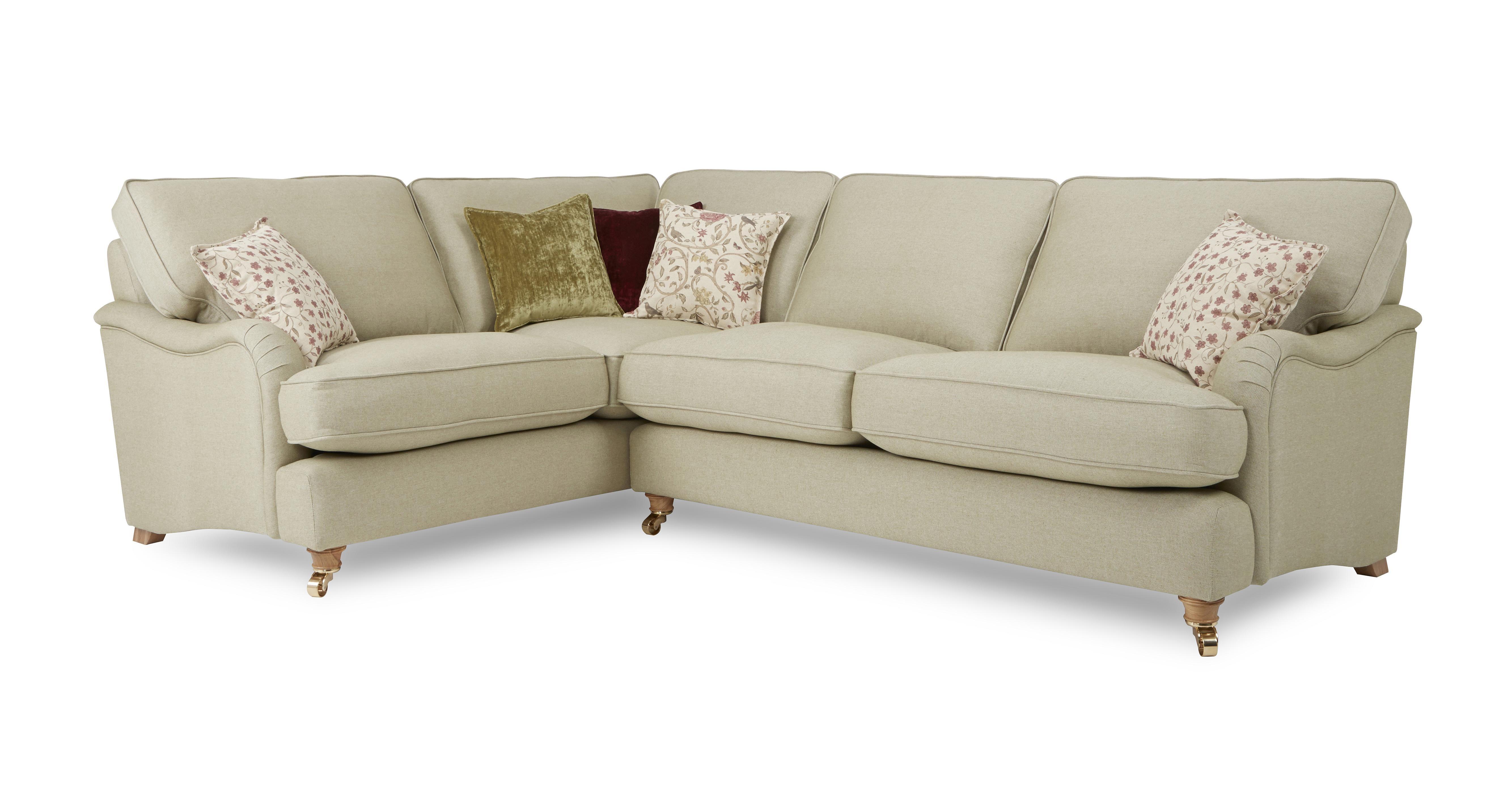Gower Racing Plain Right Hand Facing 3 Seater Corner Sofa In 2020 Sofa 3 Piece Corner Sofa