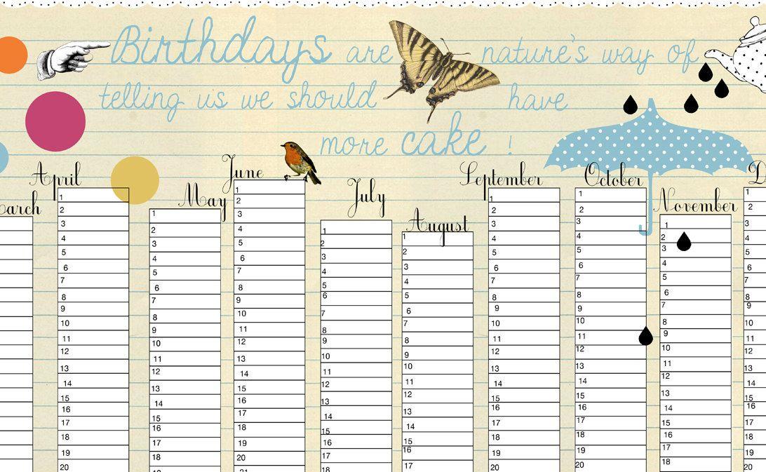 Calendar For Birthdays Idealstalist