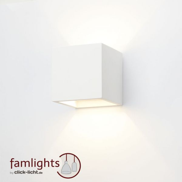 Click Licht famlights gipswandleuchte lena individuell gestaltbar 1 x g9 max