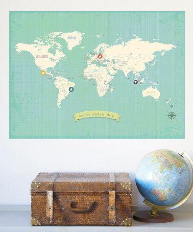 World travel map set by children inspire design with soft muted world travel map set by children inspire design with soft muted colors and 16 gumiabroncs Gallery