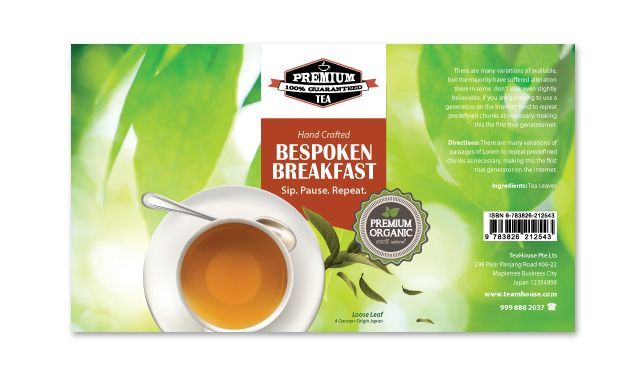 Tea Label Templates