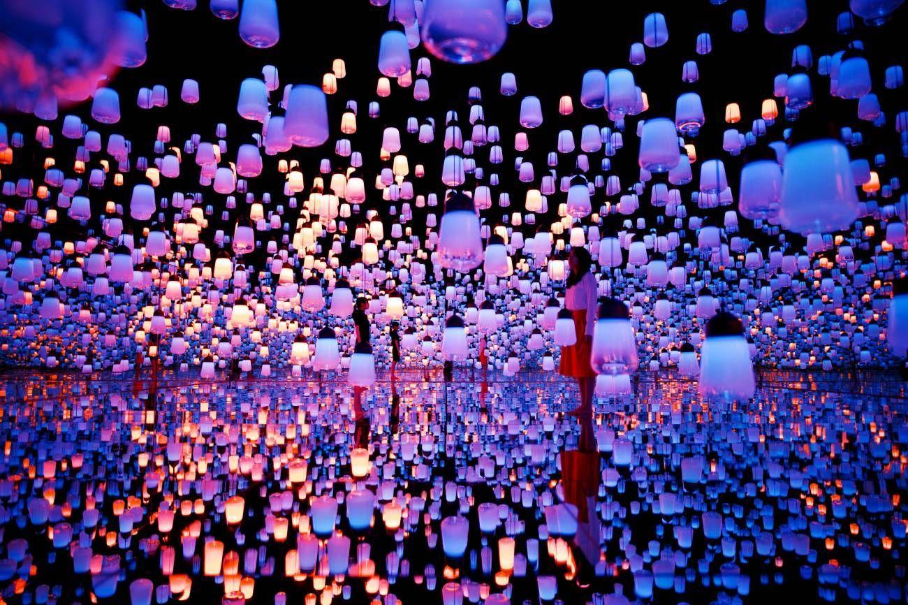 Mori Building Digital Art Museum Teamlab Borderless Interactive Art Tokyo Museum Art Museum
