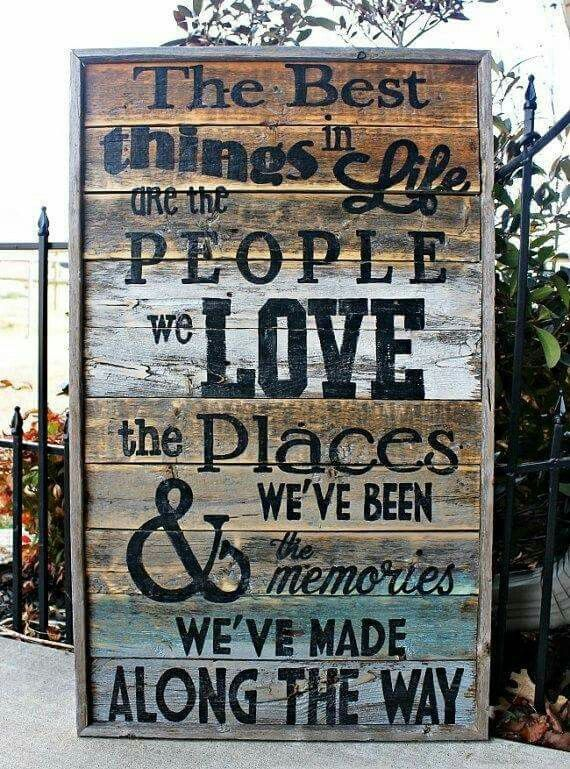Best things in life rustic wood sign 17 x 30 love large wall art fixer upper farmhouse reclaimed wood housewarming gift sign