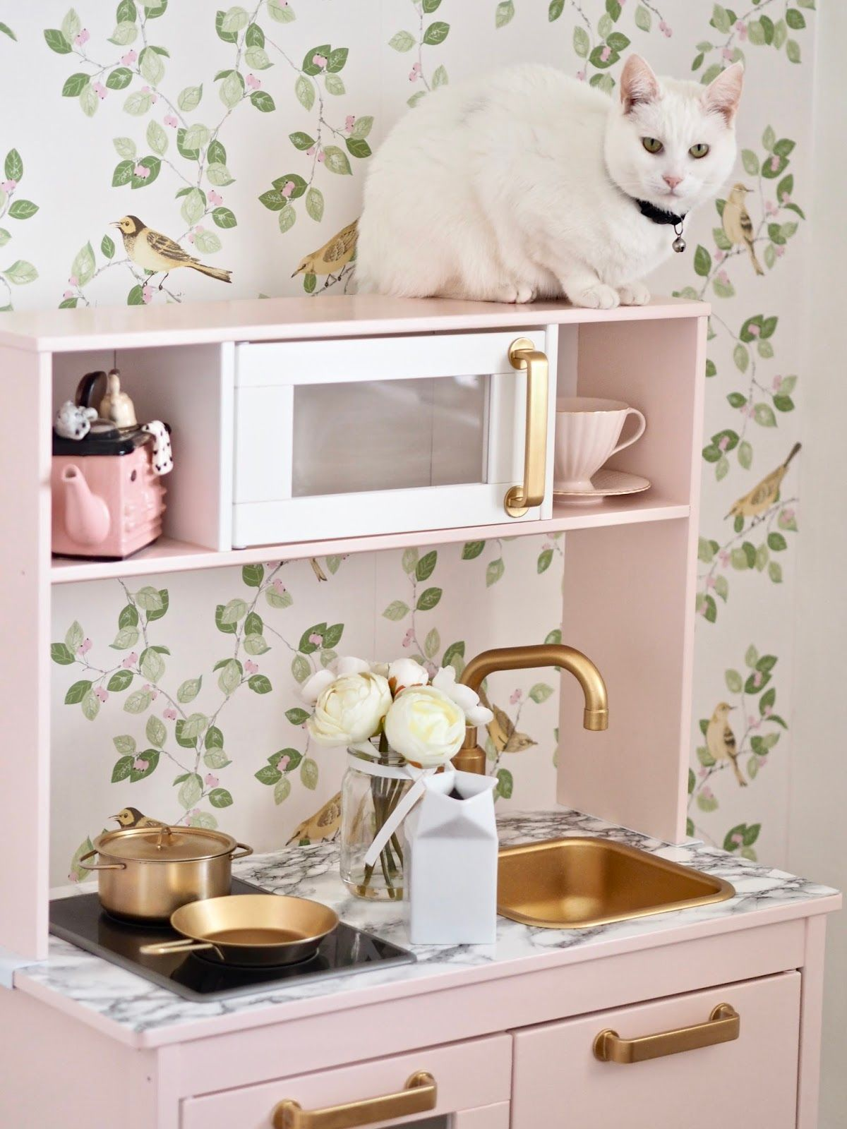 Ikea Duktig play kitchen makeover Dainty Dress Diaries