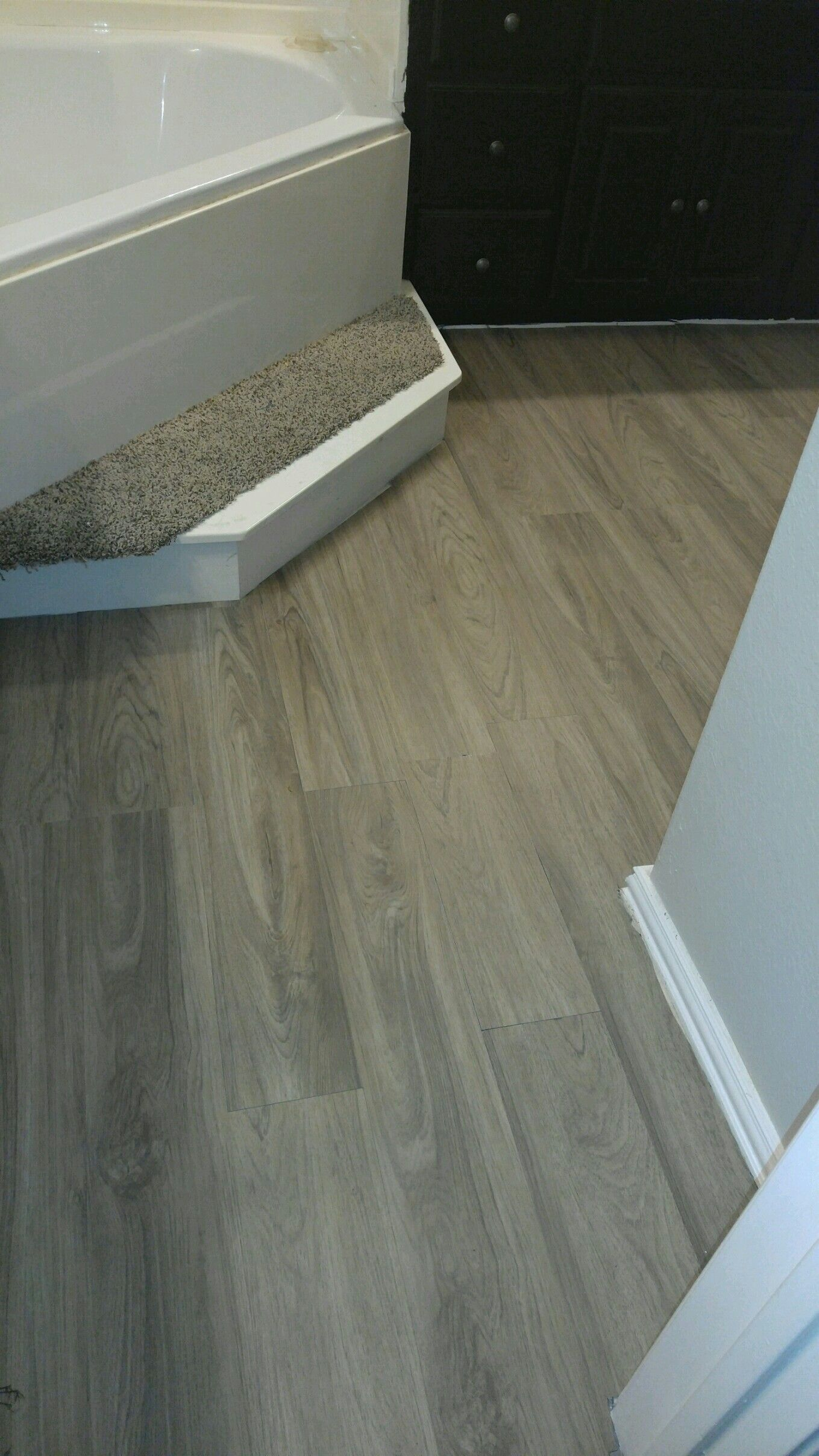 Vinyl Plank Master Bathroom: I Did This Myself, Vinyl Plank Flooring Over Tile