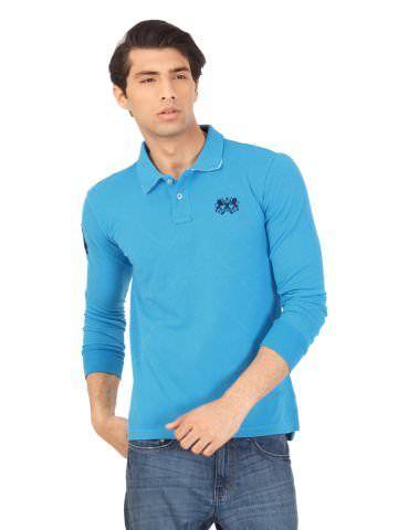 Sher Singh Men Blue Polo T-Shirt | Myntra via @myntra