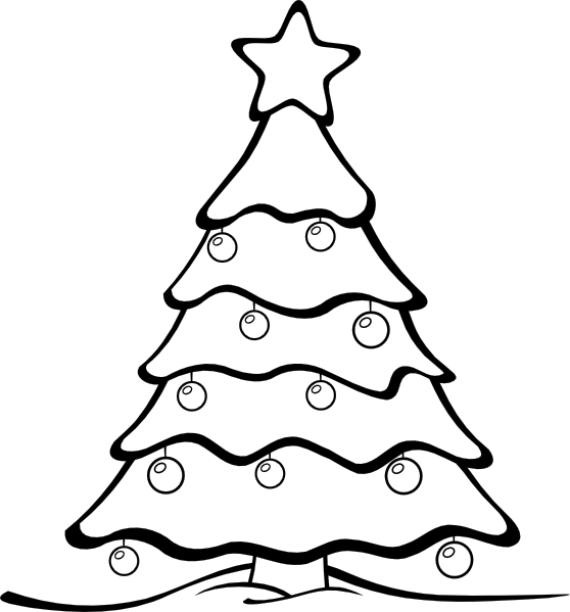 Resultado De Imagen Para Arbol De Navidad Para Colorear Para Ninos