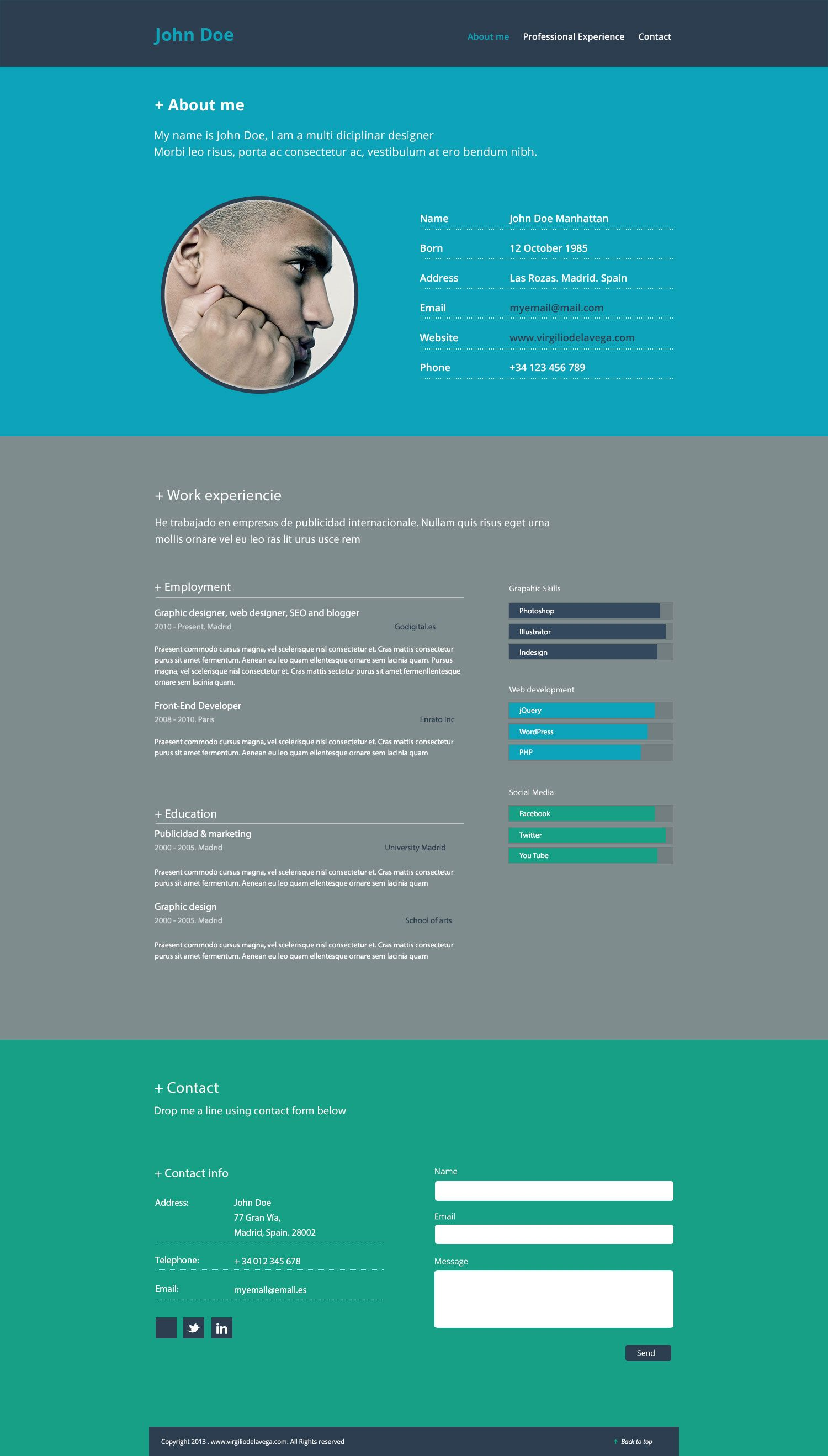 Bootstrap Biography Template Is The Best Practice For Web Template