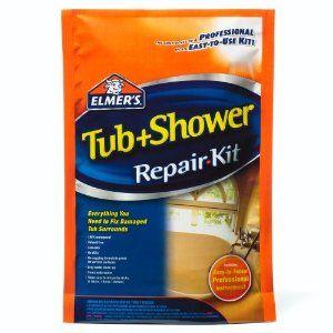 Elmers Fiberglass Tub Repair Kit With Images Shower Repair