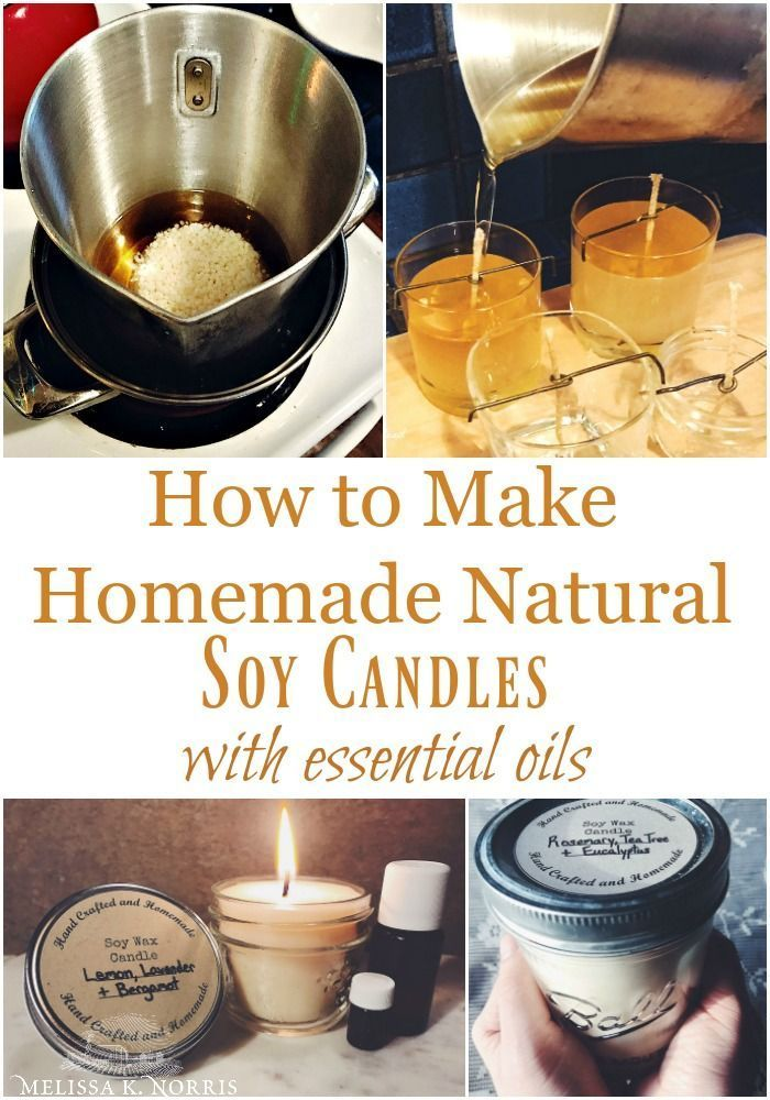 making container candles with soy wax Essential oil