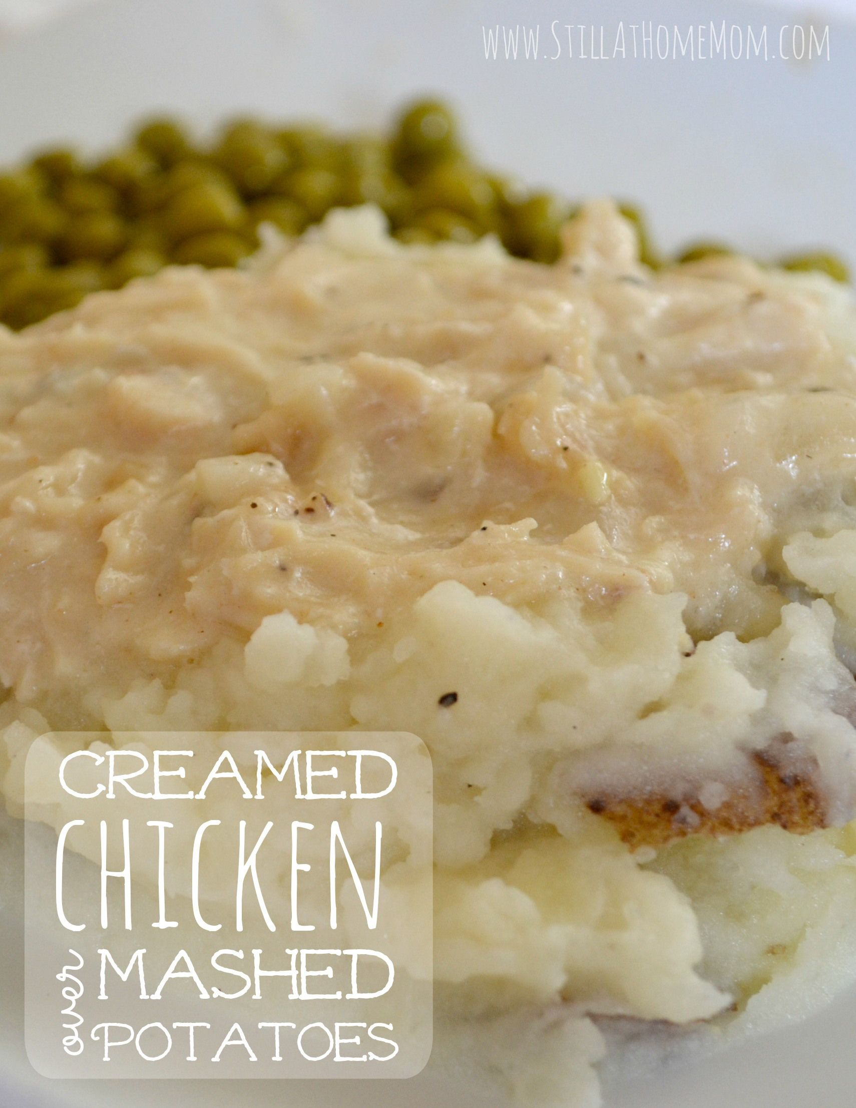 Creamed chicken over mashed potatoes comfort foods of all kinds creamed chicken over mashed potatoes forumfinder Images