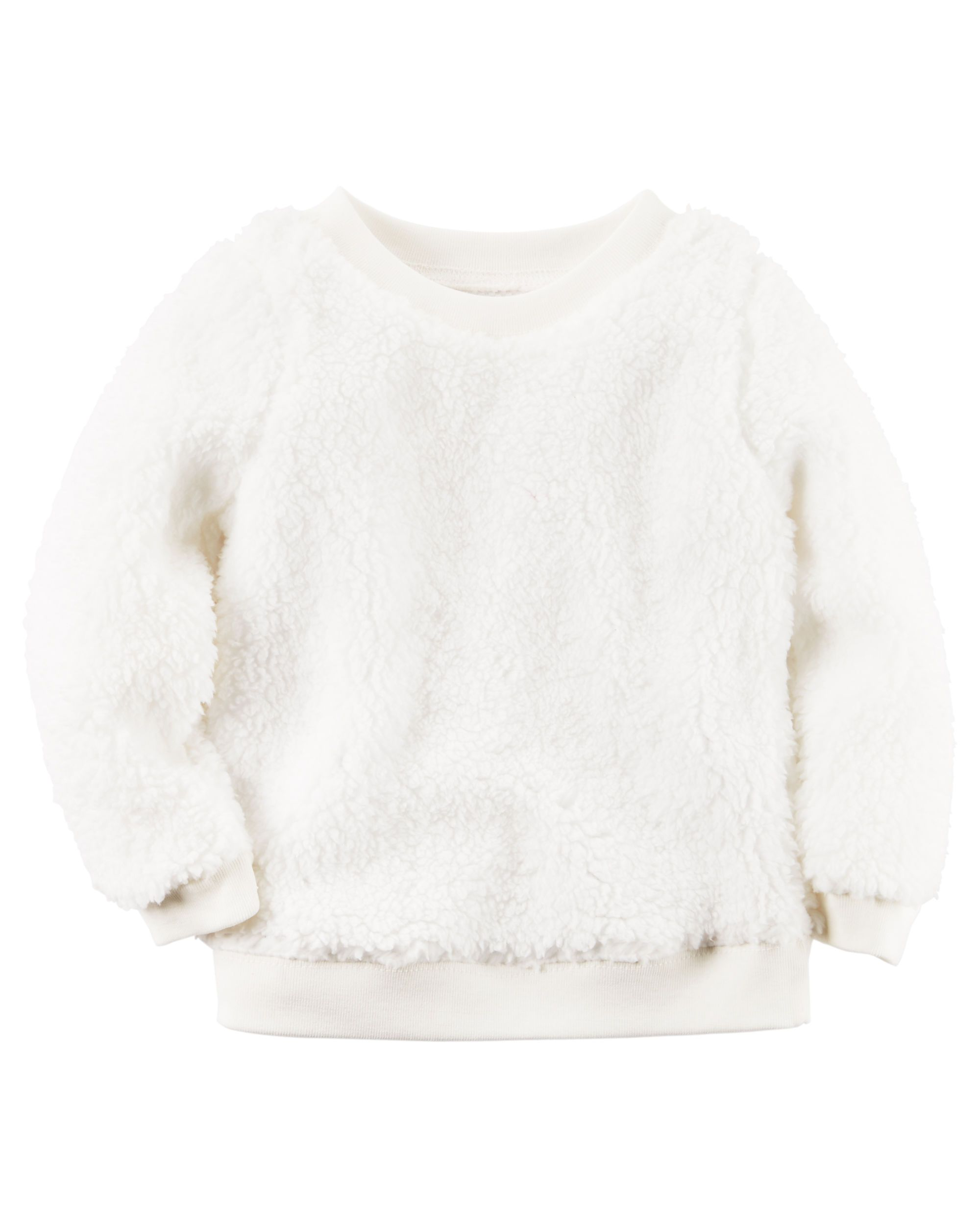 79851129bb92 Baby Girl Sherpa Crew-Neck Pullover