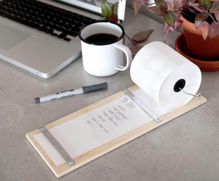 neue diy idee der perfekte notizblock f r dein schreibtisch oder f r die wand office diy. Black Bedroom Furniture Sets. Home Design Ideas