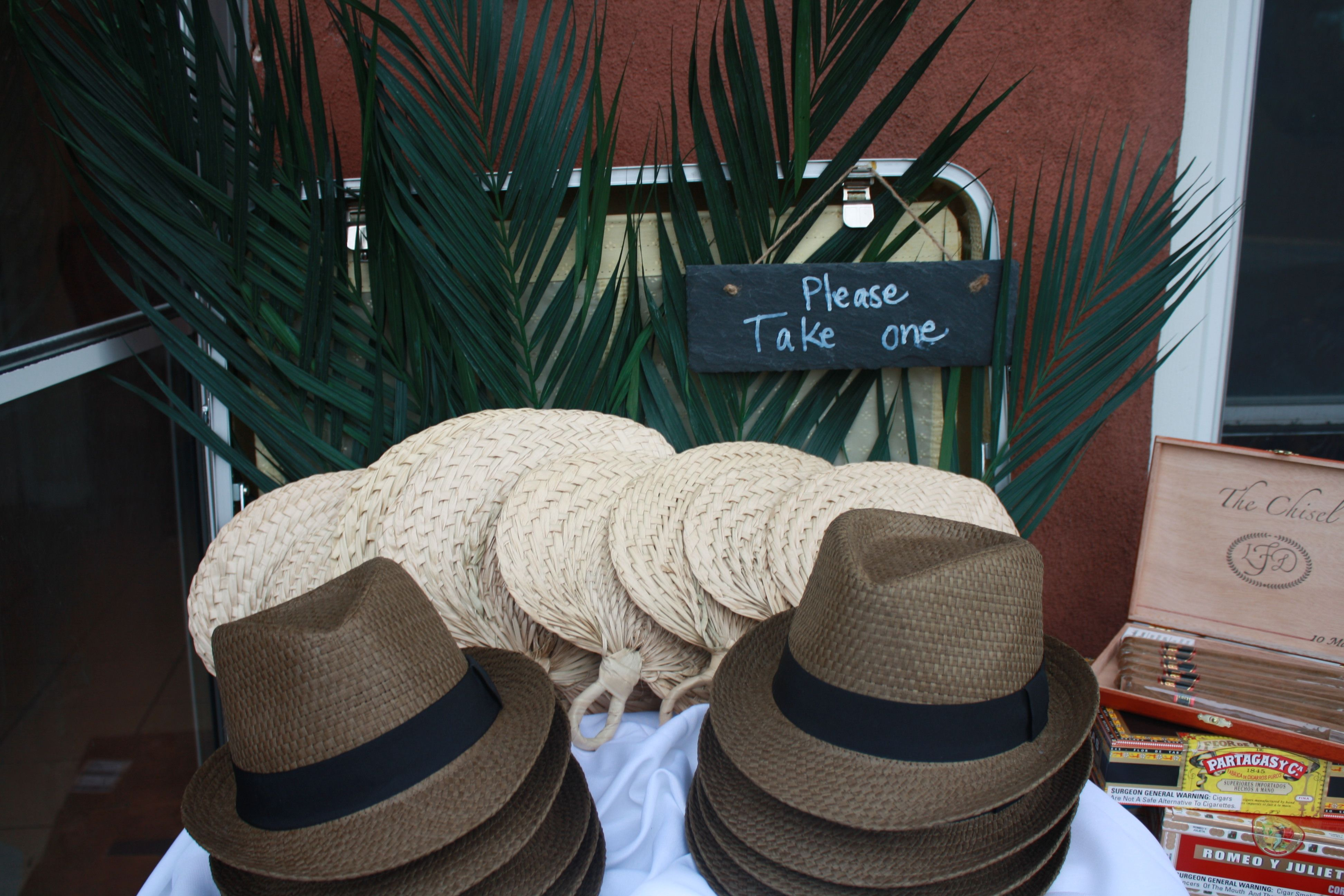 In Style Party Favors: Party Favors Cuban Style Hats For Men And Fans For Women
