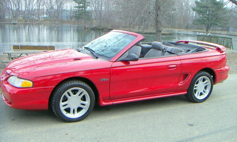 1996 Mustang Gt Convertible Rio Red Mustang Gt Mustang Ford Gt