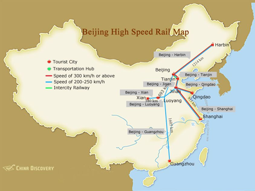 beijing in china map Beijing High Speed Rail Map Beijing China Travel China Map beijing in china map