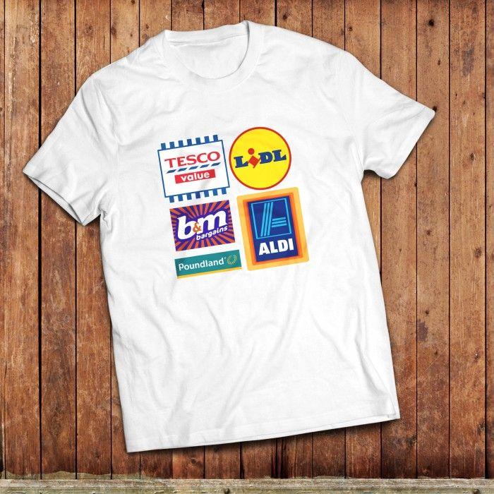 UK Budget supermarket T-Shirt #poundland #lidl #aldi #tescovalue