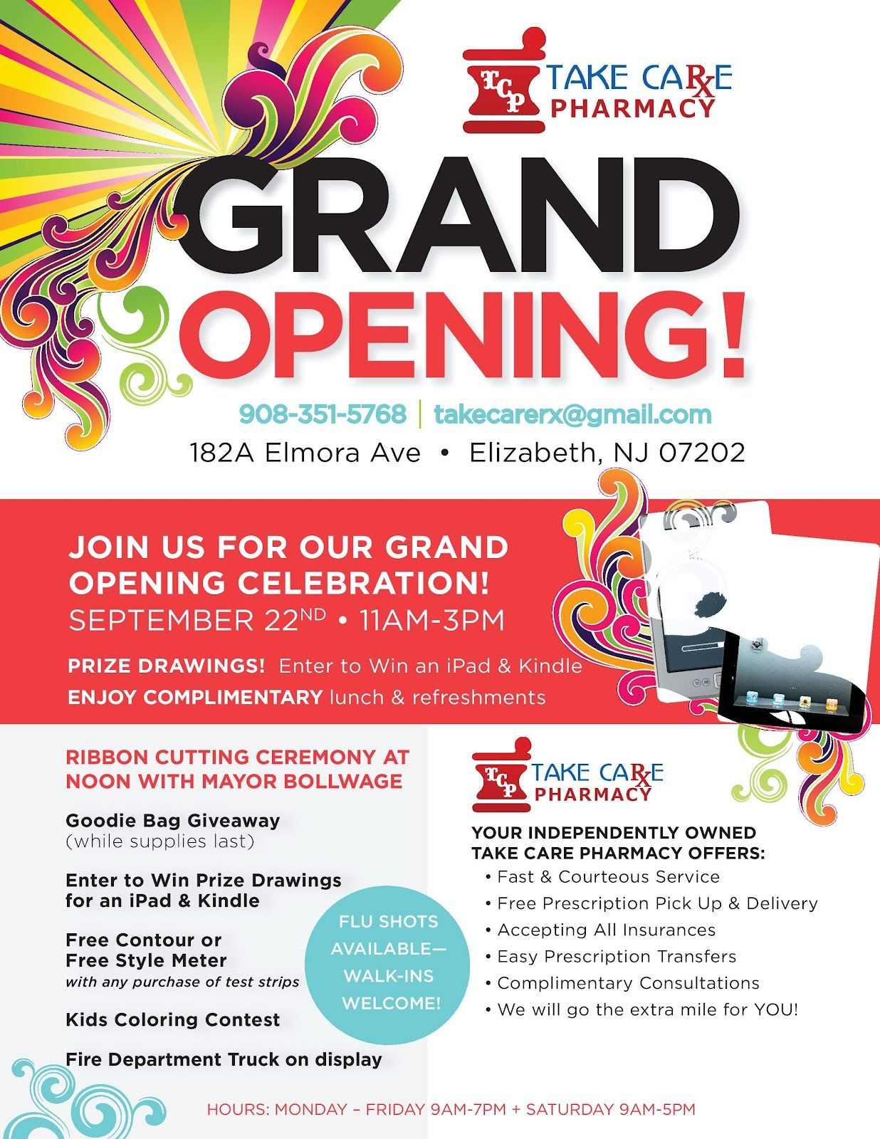 Grand opening connect with us pinterest grand opening for Grand opening flyer ideas