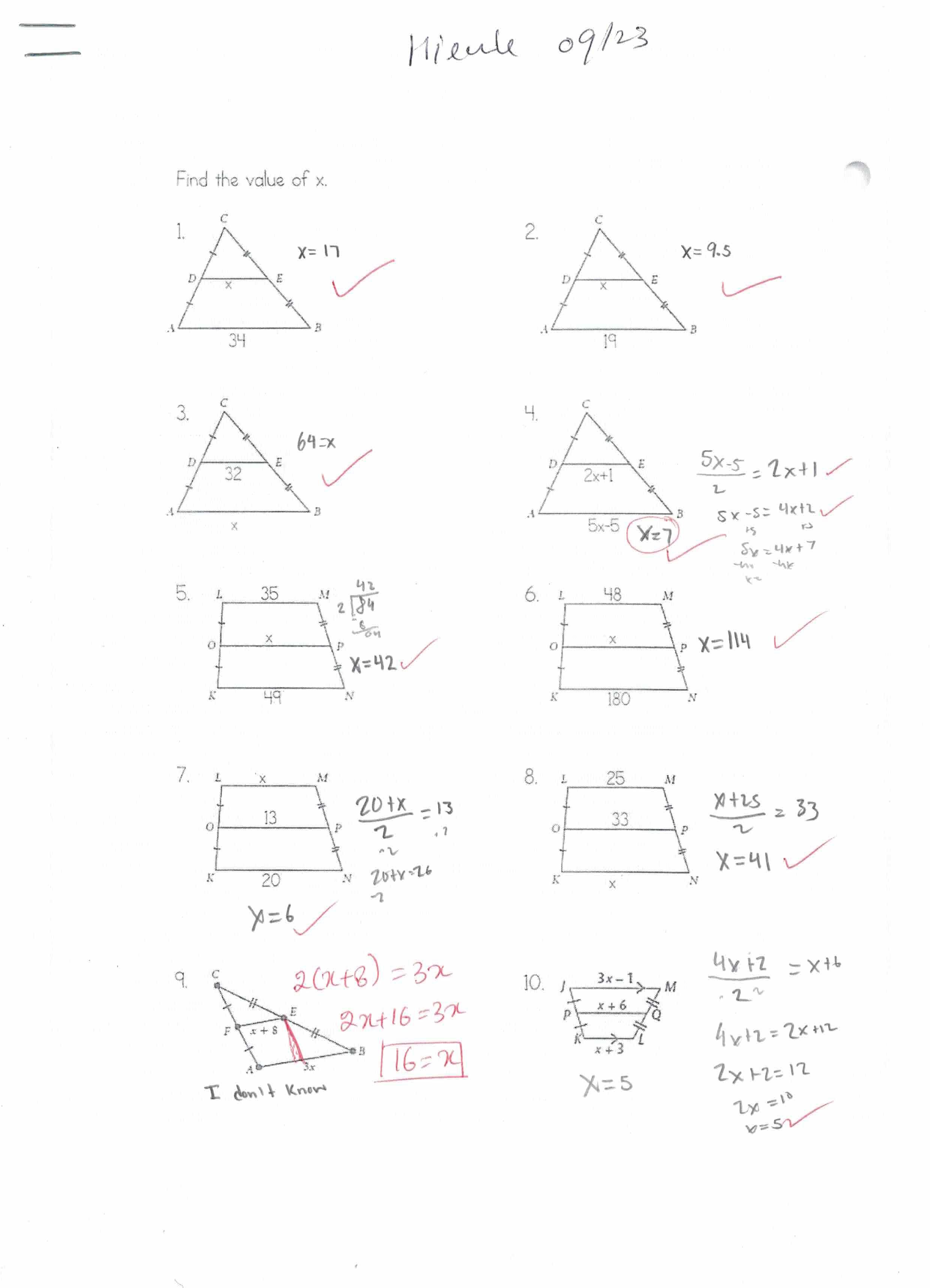 9th Grade Math Geometry At Montfort Learning Milpitas 95035