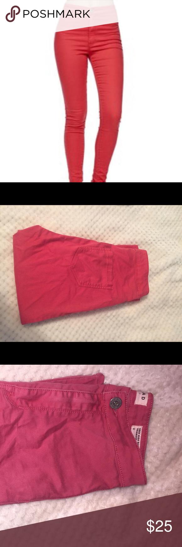 Bullhead Uber High Rise Skinniest Hot Pink Jeans hot pink super comfy high waisted jeans Bullhead Jeans Skinny