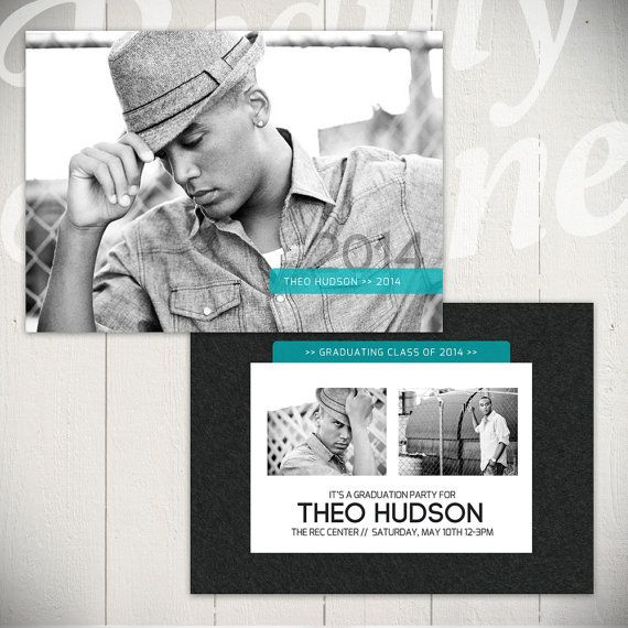 Senior Announcement Card Template: Hall Of Fame A