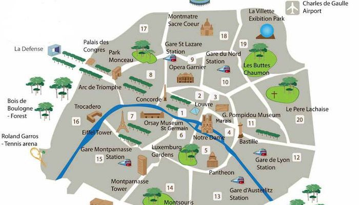 Parigi Cartina Arrondissement.Mappa Degli Arrondissements Di Parigi Parigi Parigi Mappa Parigi Francia